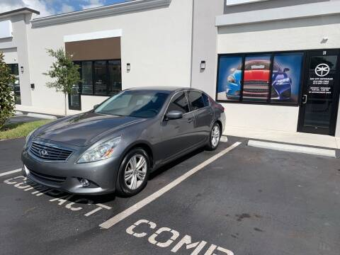 2013 Infiniti G37 Sedan for sale at Bay City Autosales in Tampa FL