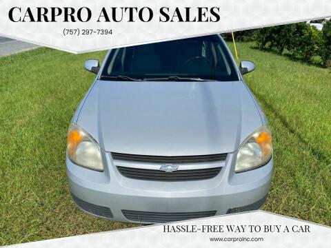 2007 Chevrolet Cobalt for sale at Carpro Auto Sales in Chesapeake VA
