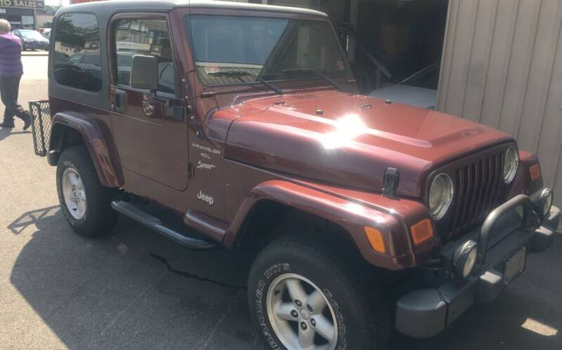 2001 Jeep Wrangler for sale at Dijie Auto Sale and Service Co. in Johnston RI
