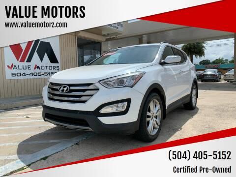 2013 Hyundai Santa Fe Sport for sale at VALUE MOTORS in Kenner LA