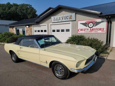 1967 Ford Mustang for sale at CRUZ'N MOTORS - Classics in Spirit Lake IA