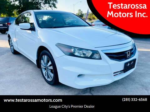 2011 Honda Accord for sale at Testarossa Motors Inc. in League City TX