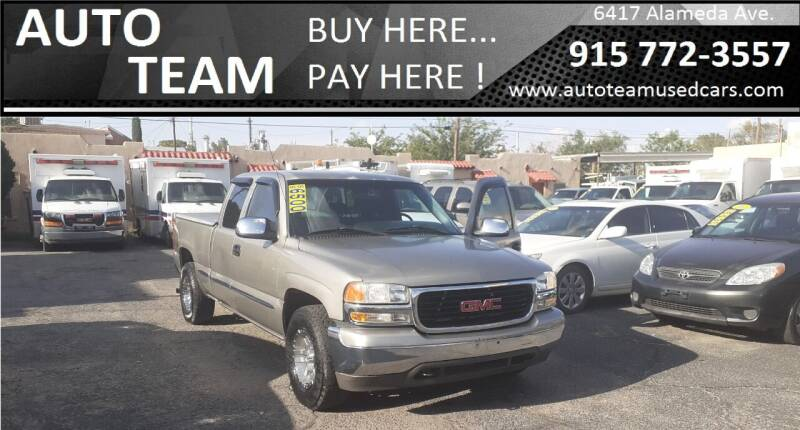 2002 GMC Sierra 1500 for sale at AUTO TEAM in El Paso TX