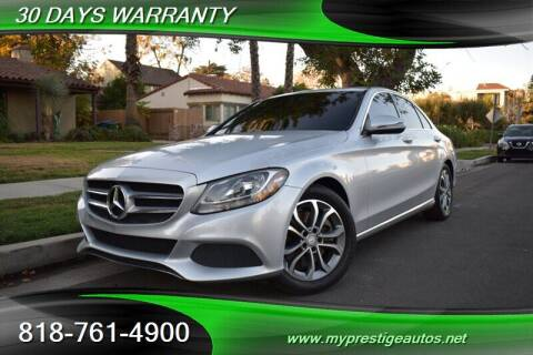 2016 Mercedes-Benz C-Class for sale at Prestige Auto Sports Inc in North Hollywood CA