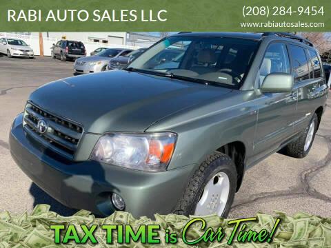 2007 Toyota Highlander for sale at RABI AUTO SALES LLC in Garden City ID