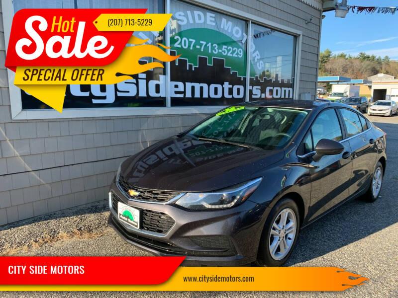 2016 Chevrolet Cruze for sale at CITY SIDE MOTORS in Auburn ME