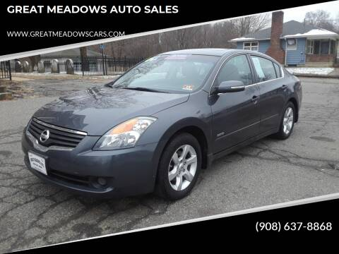 2009 Nissan Altima Hybrid for sale at GREAT MEADOWS AUTO SALES in Great Meadows NJ