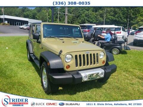 2013 Jeep Wrangler Unlimited for sale at STRIDER BUICK GMC SUBARU in Asheboro NC