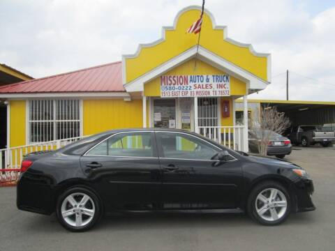 2013 Toyota Camry for sale at Mission Auto & Truck Sales, Inc. in Mission TX