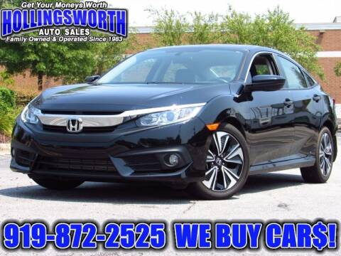 2018 Honda Civic for sale at Hollingsworth Auto Sales in Raleigh NC