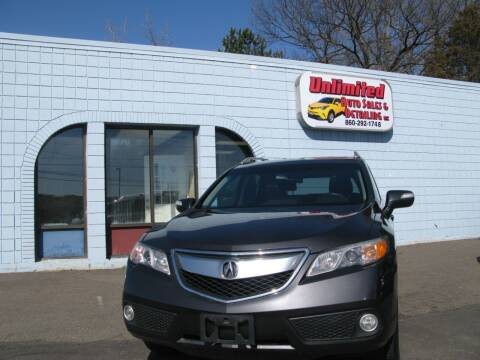 2015 Acura RDX for sale at Unlimited Auto Sales & Detailing, LLC in Windsor Locks CT