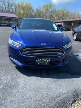 2016 Ford Fusion for sale at RHK Motors LLC in West Union OH