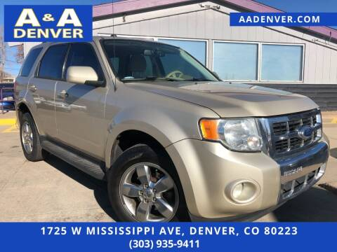 2012 Ford Escape for sale at A & A AUTO LLC in Denver CO