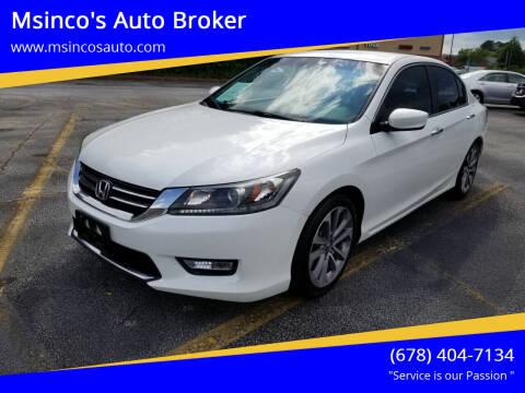 2013 Honda Accord for sale at Msinco's Auto Broker in Snellville GA