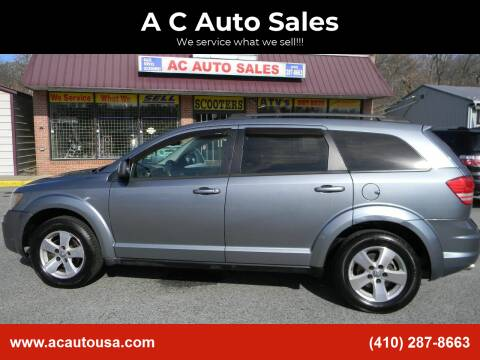 2009 Dodge Journey for sale at A C Auto Sales in Elkton MD