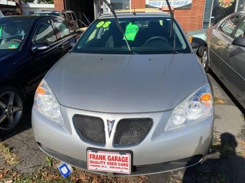 2008 Pontiac G6 for sale at Frank's Garage in Linden NJ