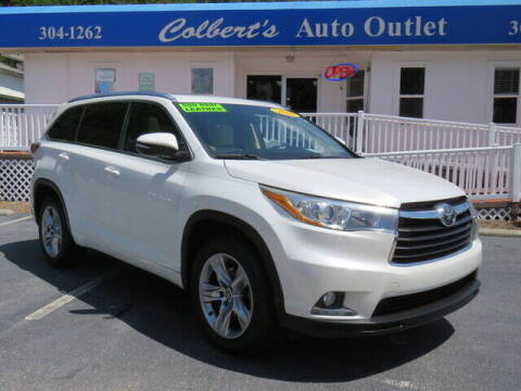2016 Toyota Highlander for sale at Colbert's Auto Outlet in Hickory NC