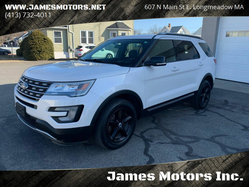 2017 Ford Explorer for sale at James Motors Inc. in East Longmeadow MA