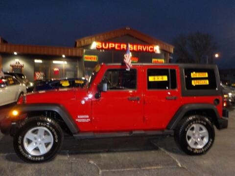 2011 Jeep Wrangler Unlimited for sale at Super Service Used Cars in Milwaukee WI