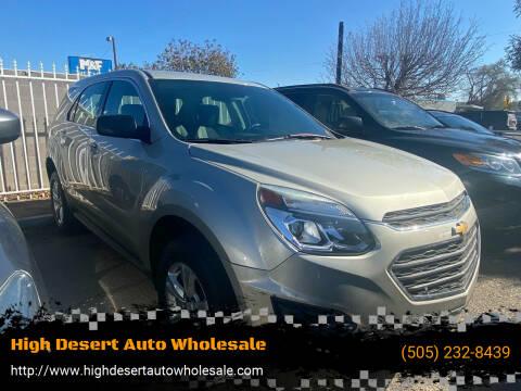 2016 Chevrolet Equinox for sale at High Desert Auto Wholesale in Albuquerque NM