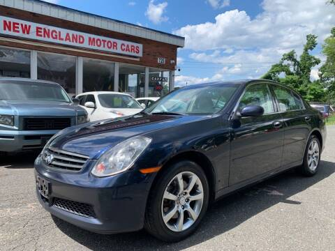 2006 Infiniti G35 for sale at New England Motor Cars in Springfield MA