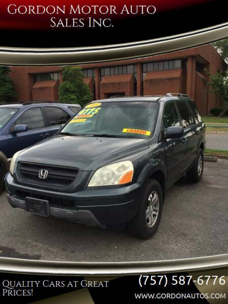 2003 Honda Pilot for sale at Gordon Motor Auto Sales Inc. in Norfolk VA
