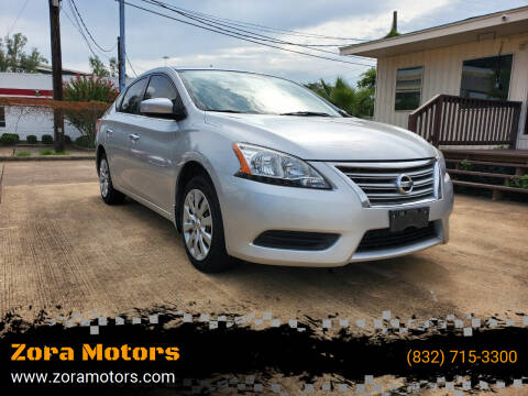 2014 Nissan Sentra for sale at Zora Motors in Houston TX