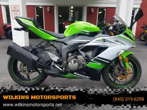 2015 Kawasaki Ninja ZX-6R for sale at WILKINS MOTORSPORTS in Brewster NY