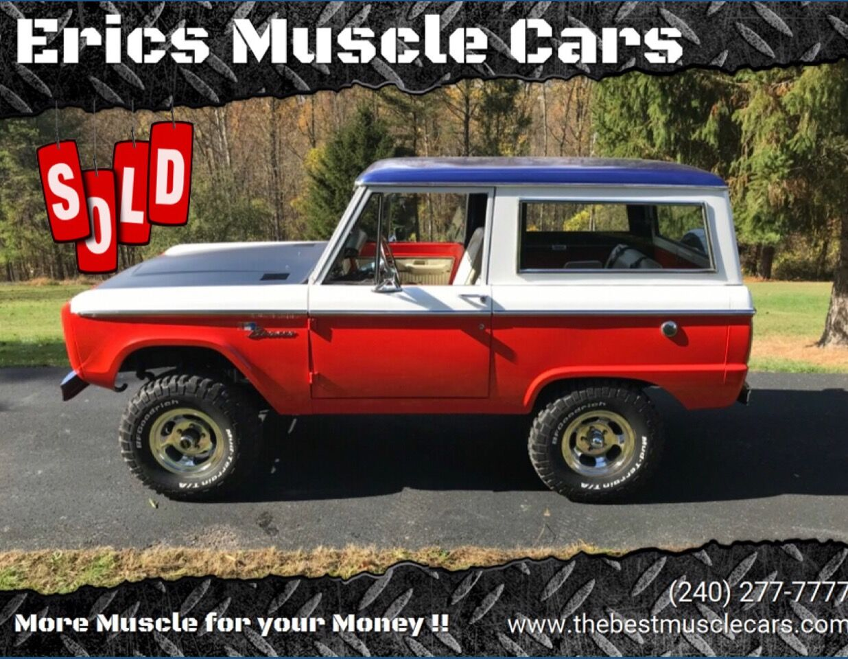 1970 Ford Bronco SOLD SOLD SOLD