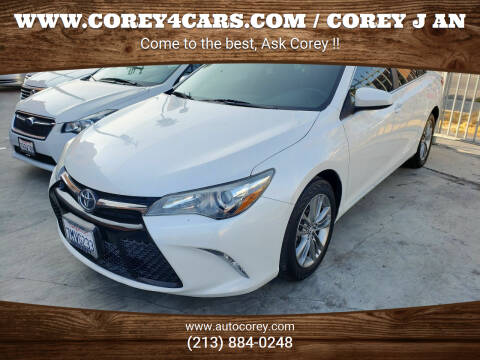 2015 Toyota Camry for sale at WWW.COREY4CARS.COM / COREY J AN in Los Angeles CA
