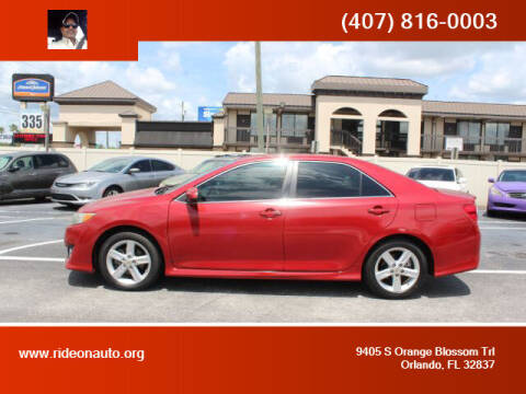 2012 Toyota Camry for sale at Ride On Auto in Orlando FL
