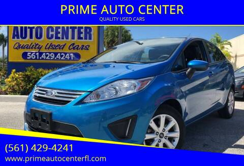 2012 Ford Fiesta for sale at PRIME AUTO CENTER in Palm Springs FL