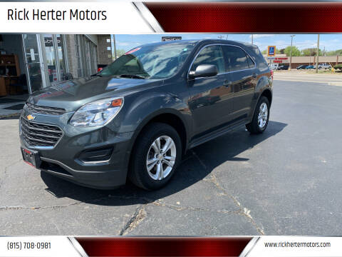 2017 Chevrolet Equinox for sale at Rick Herter Motors in Loves Park IL