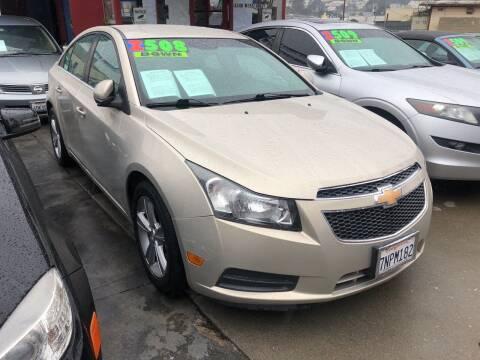 2012 Chevrolet Cruze for sale at Excelsior Motors , Inc in San Francisco CA