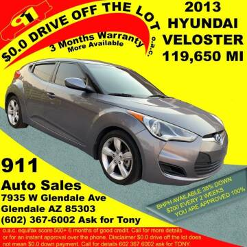 2013 Hyundai Veloster for sale at 911 AUTO SALES LLC in Glendale AZ
