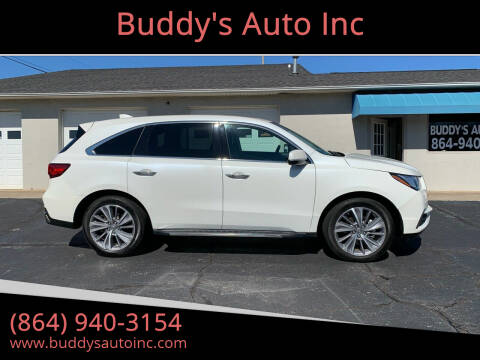 2018 Acura MDX for sale at Buddy's Auto Inc in Pendleton, SC