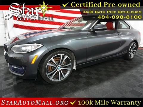 2016 BMW 2 Series for sale at STAR AUTO MALL 512 in Bethlehem PA