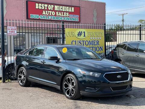 2014 Ford Taurus for sale at Best of Michigan Auto Sales in Detroit MI