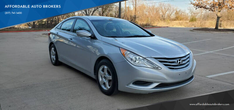 2013 Hyundai Sonata for sale at AFFORDABLE AUTO BROKERS in Keller TX