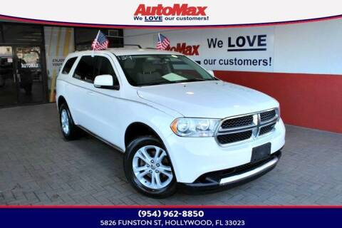 2011 Dodge Durango for sale at Auto Max in Hollywood FL