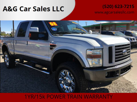 2008 Ford F-350 Super Duty for sale at A&G Car Sales  LLC in Tucson AZ