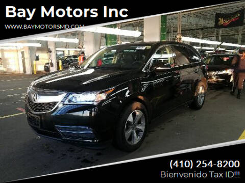 2016 Acura MDX for sale at Bay Motors Inc in Baltimore MD