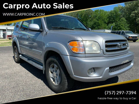 2001 Toyota Sequoia for sale at Carpro Auto Sales in Chesapeake VA