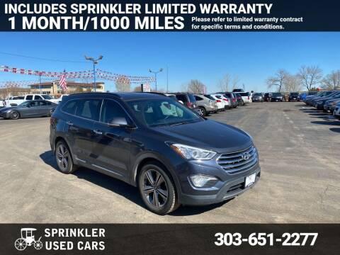 2013 Hyundai Santa Fe for sale at Sprinkler Used Cars in Longmont CO