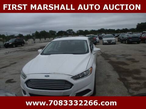 2013 Ford Fusion for sale at First Marshall Auto Auction in Harvey IL