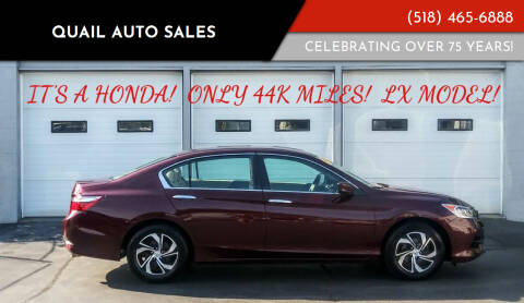 2016 Honda Accord for sale at Quail Auto Sales in Albany NY