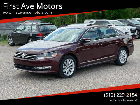 2013 Volkswagen Passat for sale at First Ave Motors in Shakopee MN