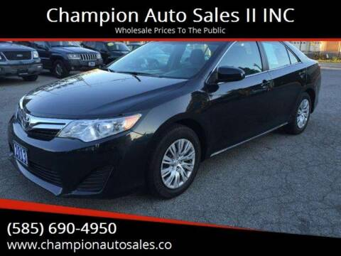 2013 Toyota Camry for sale at Champion Auto Sales II INC in Rochester NY