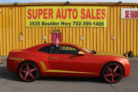 2012 Chevrolet Camaro for sale at Super Auto Sales in Las Vegas NV
