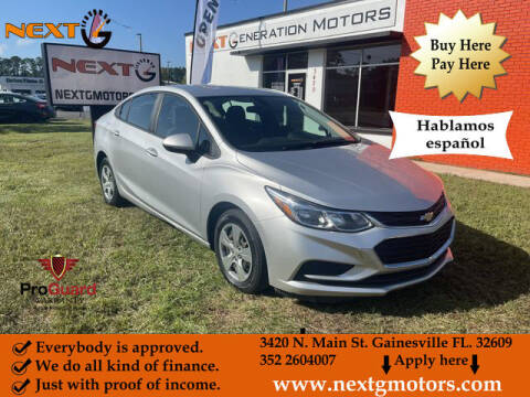 2018 Chevrolet Cruze for sale at Next G Motors in Gainesville FL